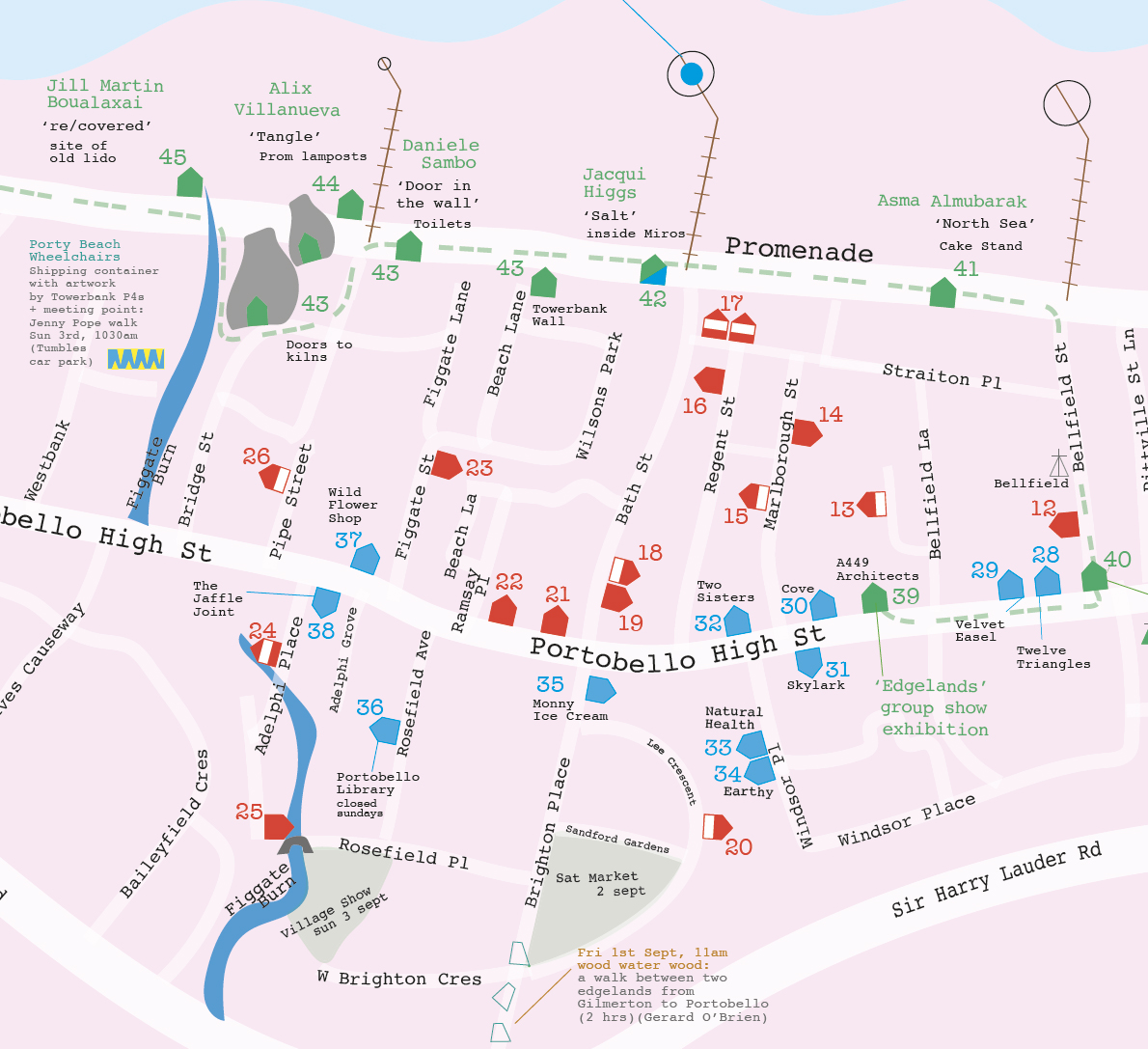 Art walk porty edinburghs seaside download 2017 art walk map pdf gumiabroncs Images